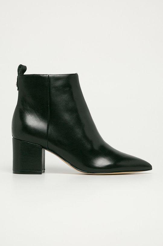 černá Guess Jeans - Kožené kotníkové boty Dámský