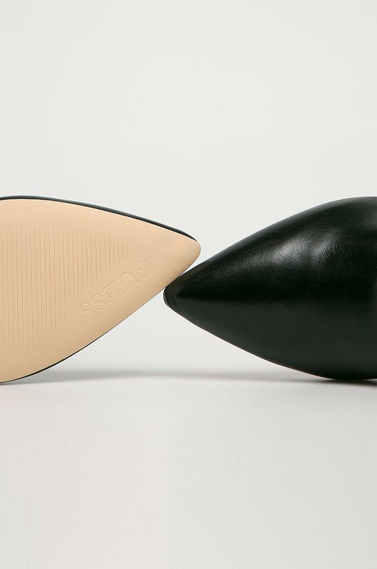 černá Guess Jeans - Kožené kotníkové boty