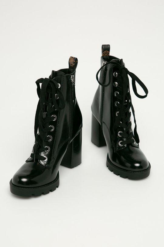 Guess Jeans - Členkové topánky čierna