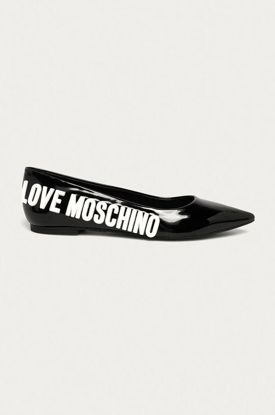 czarny Love Moschino - Baleriny Damski