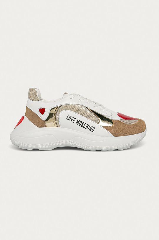 білий Love Moschino - Шкіряні черевики Жіночий