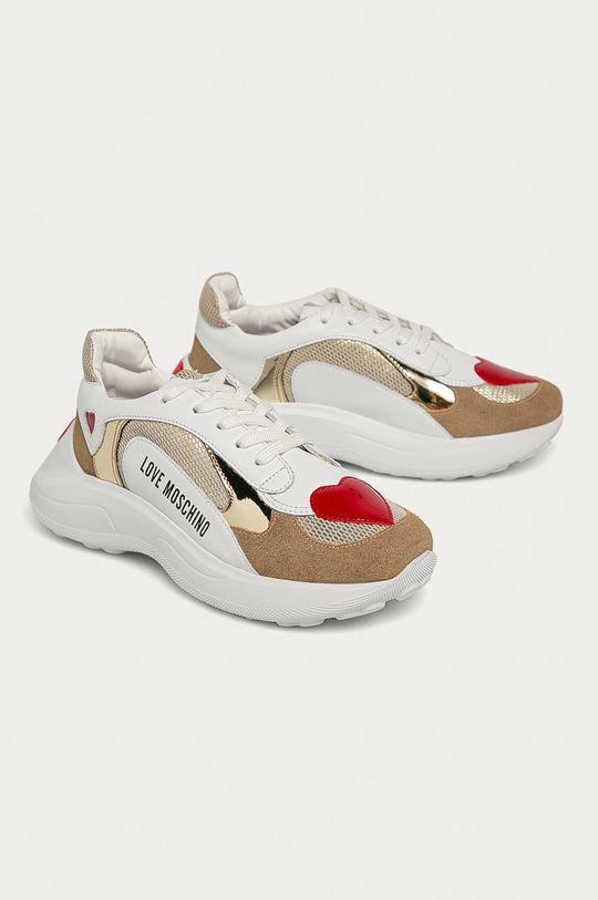 Love Moschino - Шкіряні черевики білий