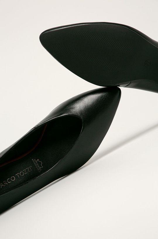čierna Marco Tozzi - Kožené lodičky