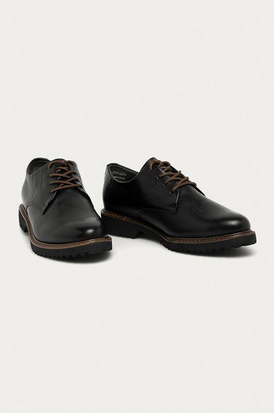 Marco Tozzi - Шкіряні туфлі чорний