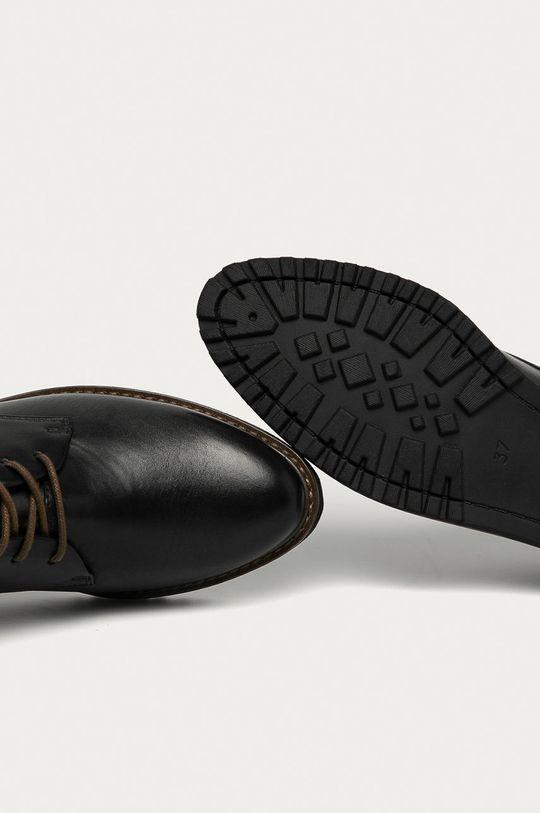 чорний Marco Tozzi - Шкіряні туфлі