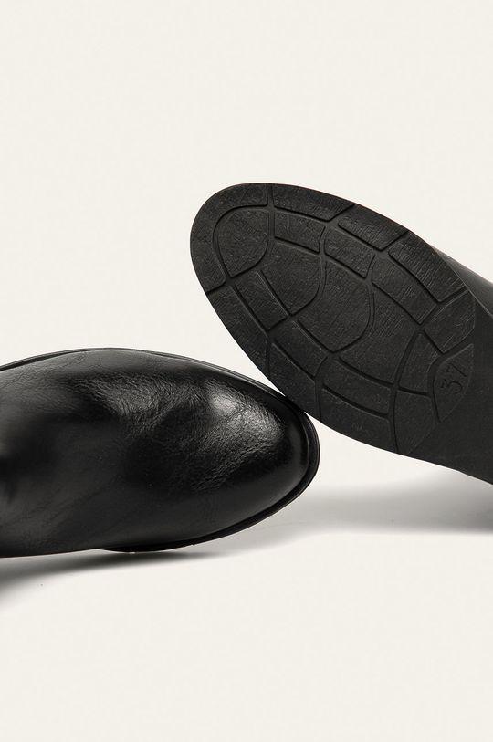 černá Marco Tozzi - Boty s gumou