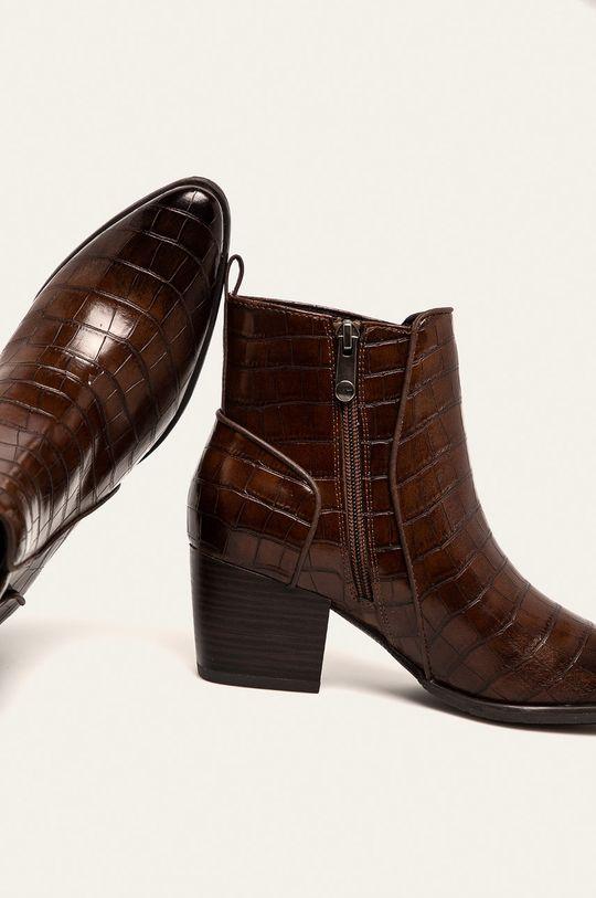kávová Marco Tozzi - Členkové topánky
