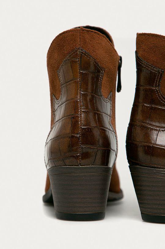 Marco Tozzi - Cizme de piele  Gamba: Piele naturala, Piele intoarsa Interiorul: Material sintetic, Material textil Talpa: Material sintetic