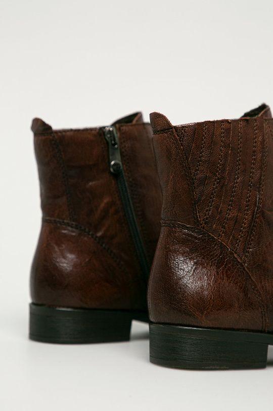 Marco Tozzi - Kožené členkové topánky  Zvršok: Prírodná koža Vnútro: Syntetická látka, Textil Podrážka: Syntetická látka
