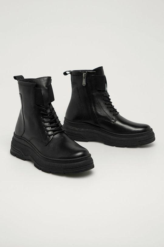 Marco Tozzi - Cizme de piele negru