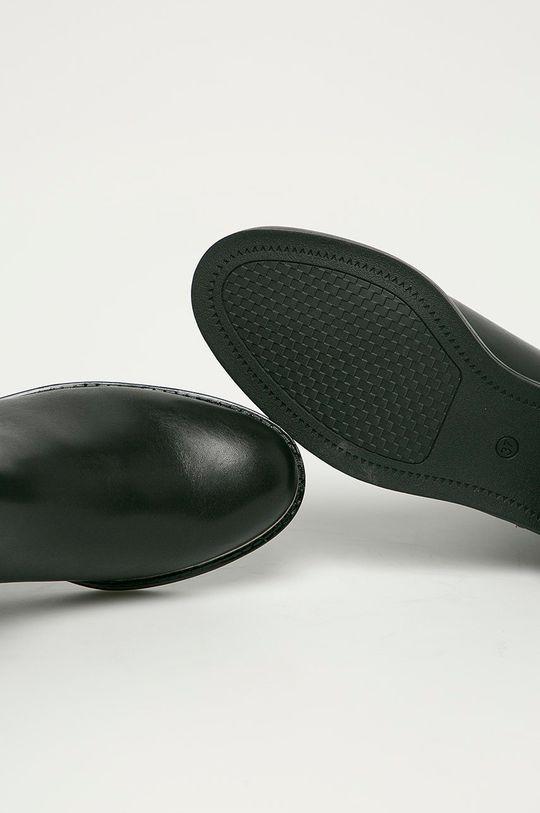 čierna Marco Tozzi - Kožené topánky Chelsea