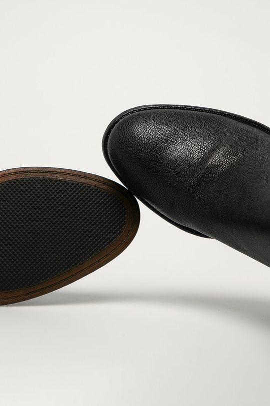 negru Marco Tozzi - Cizme de piele