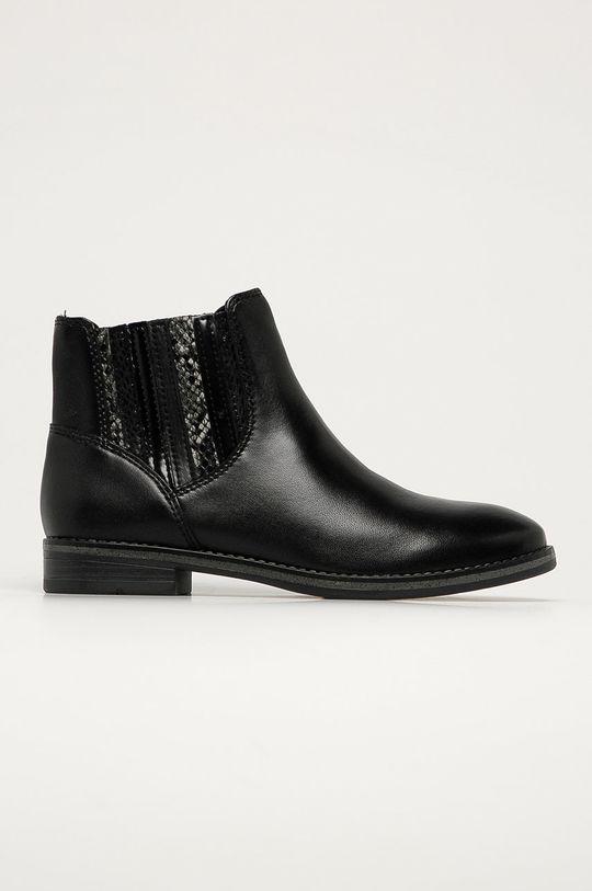 čierna Marco Tozzi - Kožené topánky Chelsea Dámsky