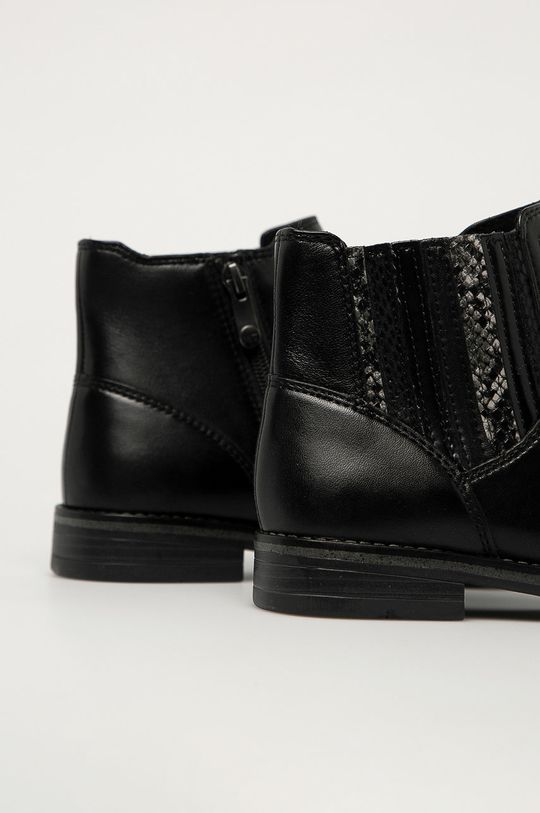 Marco Tozzi - Kožené topánky Chelsea  Zvršok: Prírodná koža Vnútro: Textil Podrážka: Syntetická látka