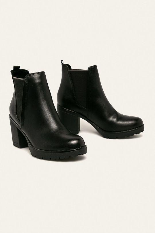 Marco Tozzi - Členkové topánky čierna