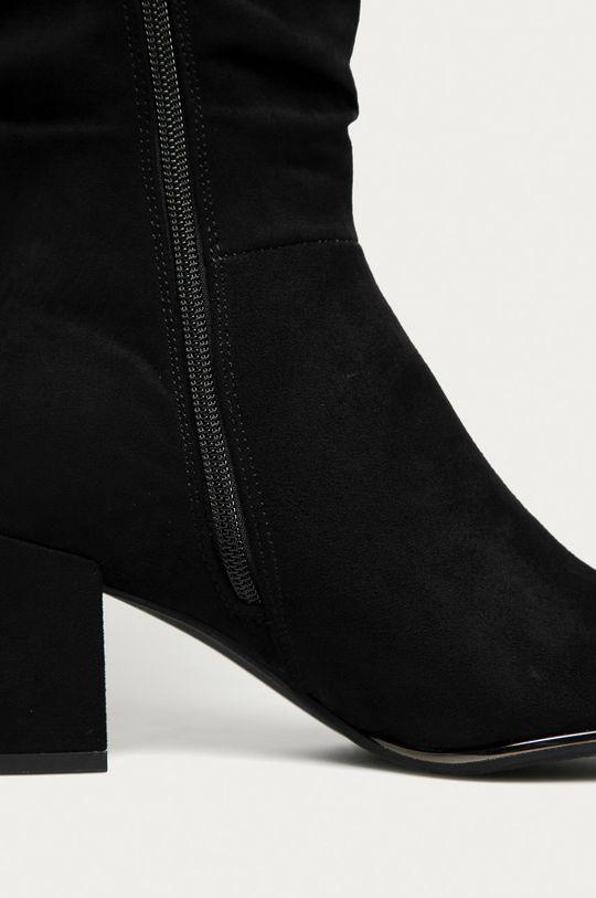 čierna Marco Tozzi - Vysoké čižmy