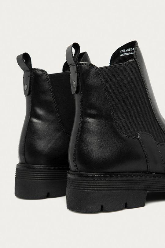 Marco Tozzi - Kožené topánky Chelsea čierna