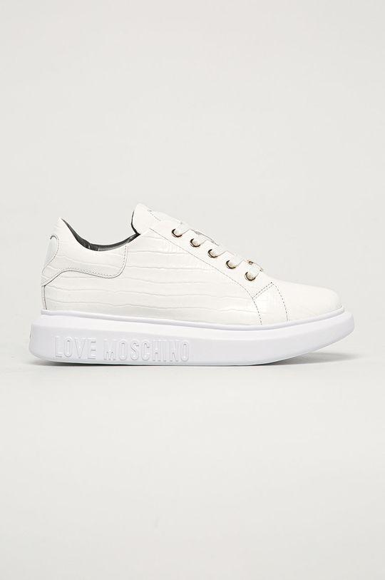 bílá Love Moschino - Kožené boty Dámský