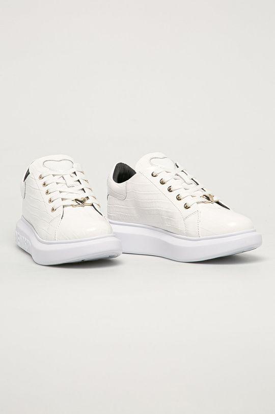 Love Moschino - Kožené boty bílá