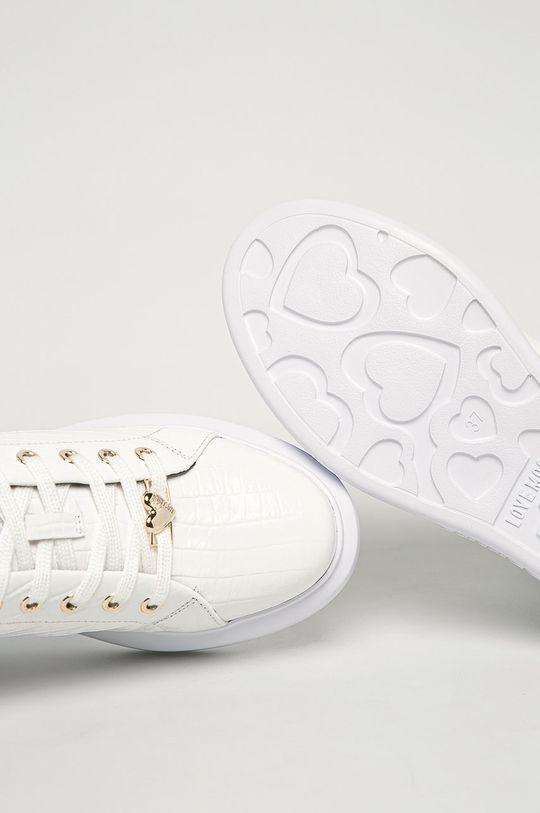 bílá Love Moschino - Kožené boty