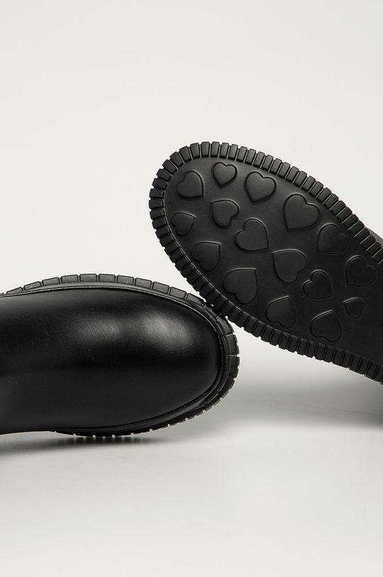 černá Love Moschino - Boty s gumou