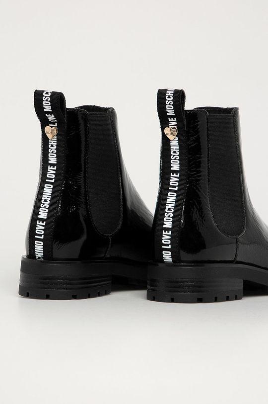 Love Moschino - Kožené kotníkové boty  Svršek: Textilní materiál, Přírodní kůže Vnitřek: Umělá hmota Podrážka: Umělá hmota