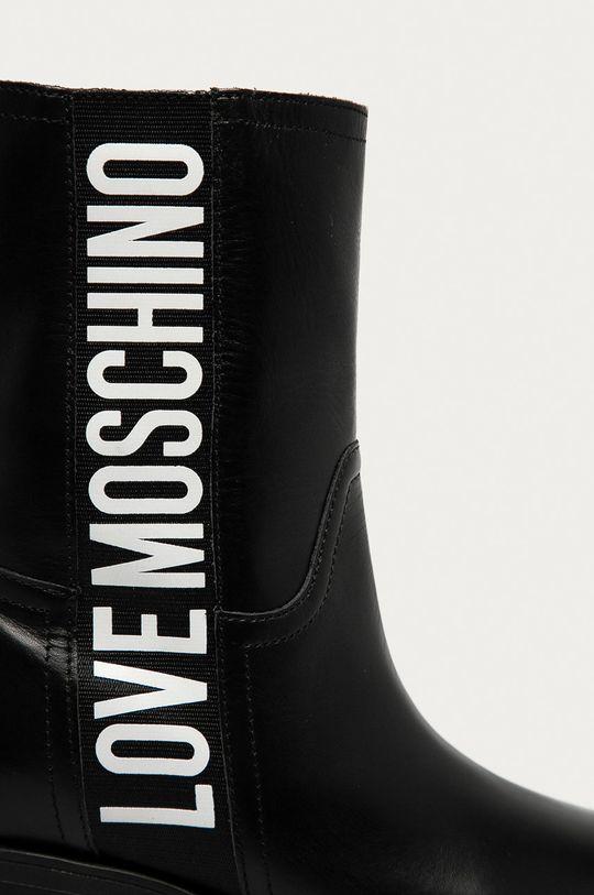 Love Moschino - Westernové kožené boty Dámský