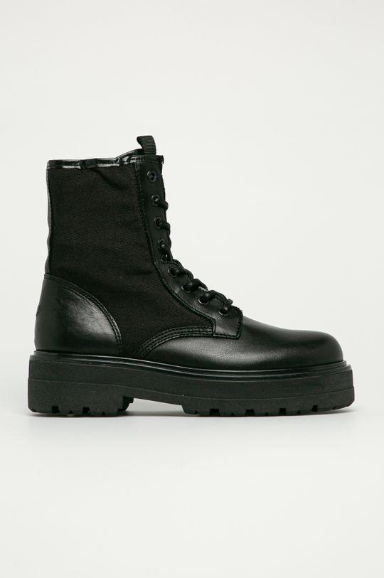 czarny Tommy Jeans - Workery Damski