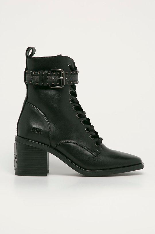 černá Liu Jo - Kožené kotníkové boty Dámský