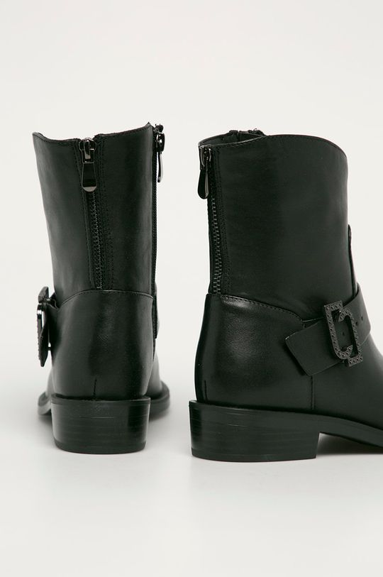 černá Liu Jo - Kožené kotníkové boty