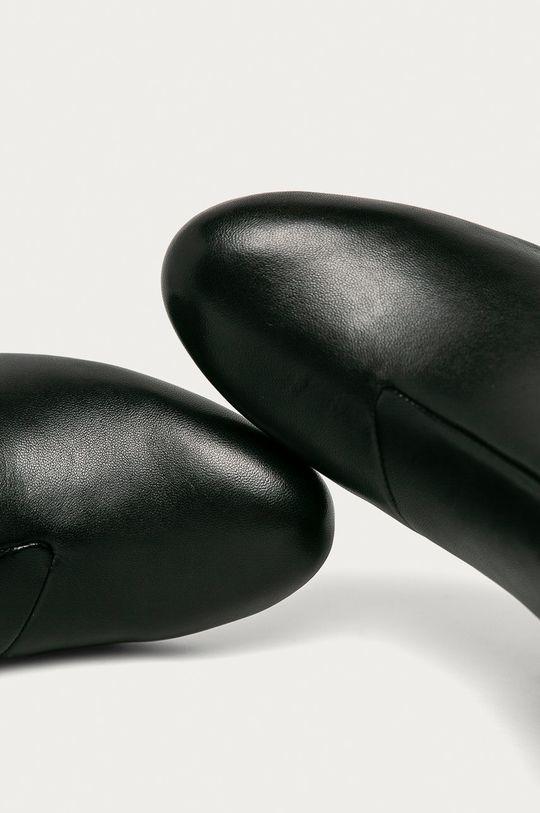 černá Dkny - Kožené kotníkové boty