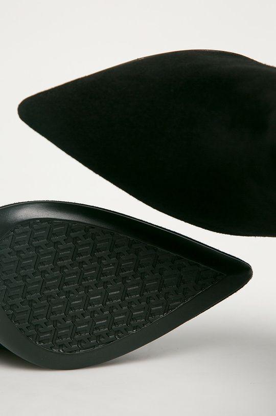 negru Tommy Hilfiger - Cizme din piele intoarsa