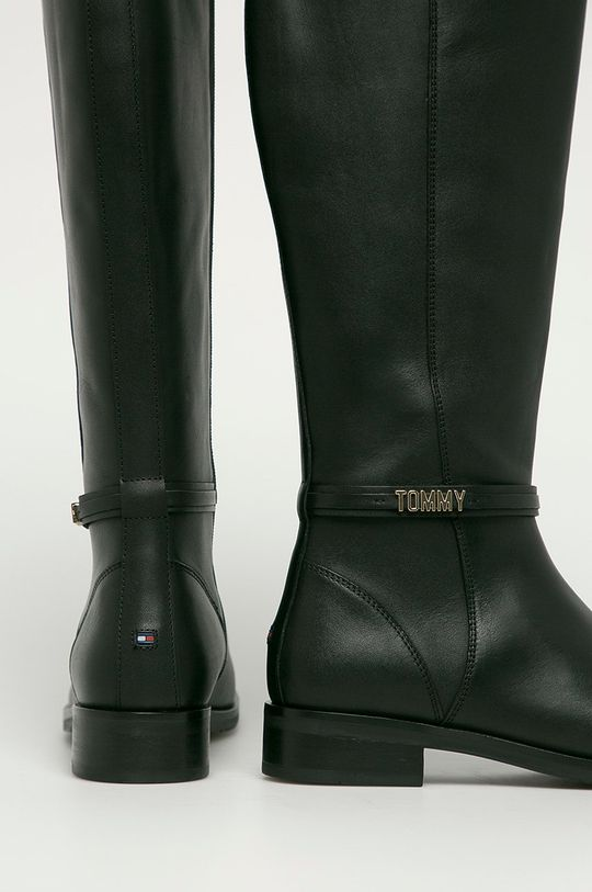 Tommy Hilfiger - Ghete de piele  Gamba: Piele naturala Interiorul: Material textil, Piele naturala Talpa: Material sintetic