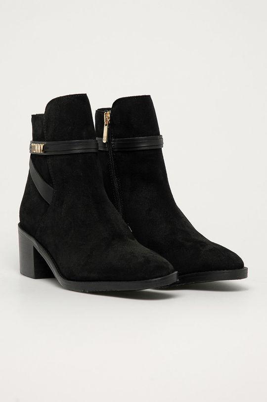 Tommy Hilfiger - Semišové boty černá