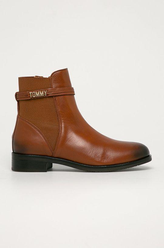 hnedá Tommy Hilfiger - Topánky Chelsea Dámsky