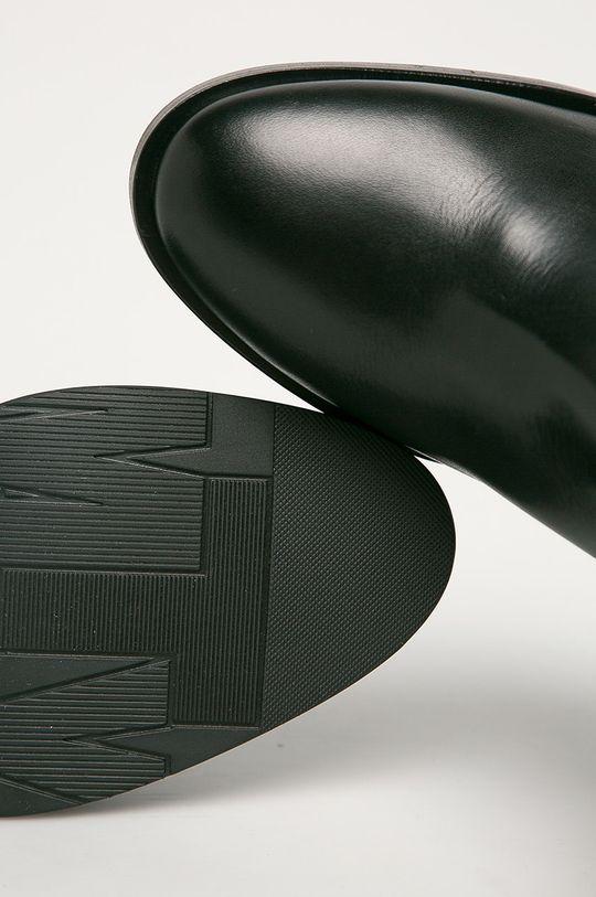 černá Tommy Hilfiger - Kožené kotníkové boty