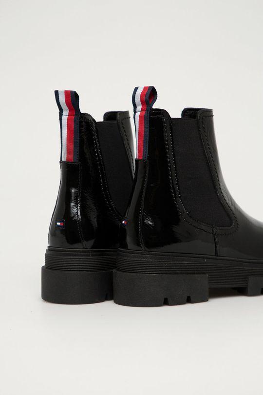 Tommy Hilfiger - Kožené topánky Chelsea  Zvršok: Prírodná koža Vnútro: Syntetická látka, Prírodná koža Podrážka: Syntetická látka