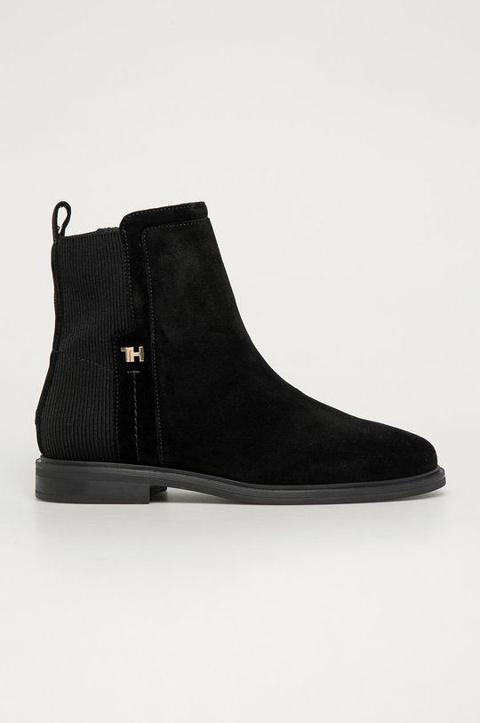 čierna Tommy Hilfiger - Semišové topánky Chelsea Dámsky