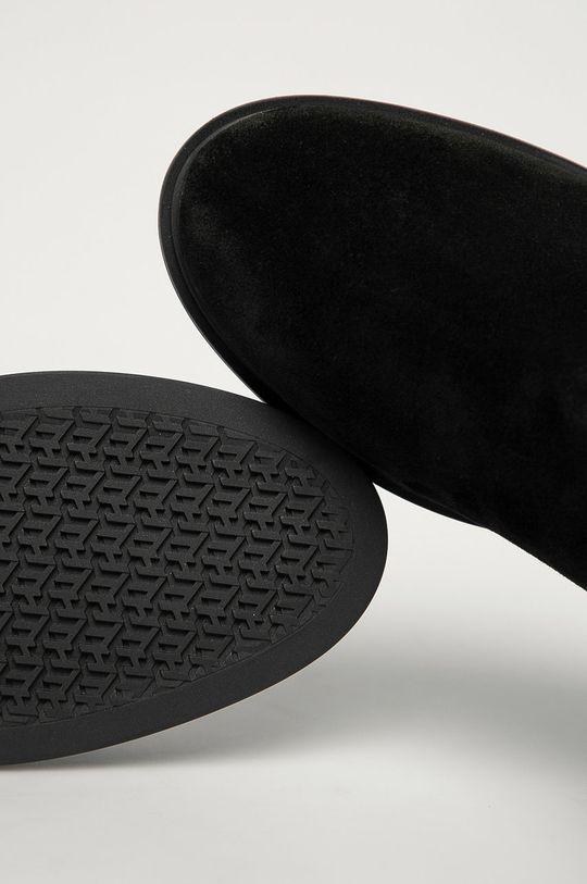 čierna Tommy Hilfiger - Semišové topánky Chelsea