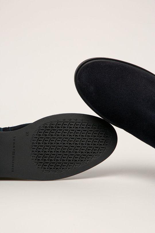 tmavomodrá Tommy Hilfiger - Semišové topánky