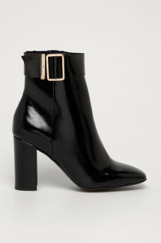 čierna Tommy Hilfiger - Kožené členkové topánky Dámsky
