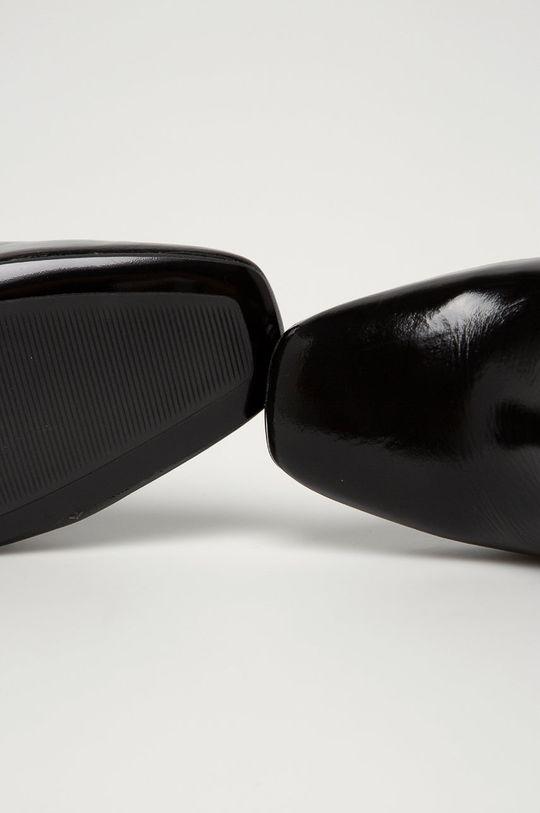čierna Tommy Hilfiger - Kožené členkové topánky