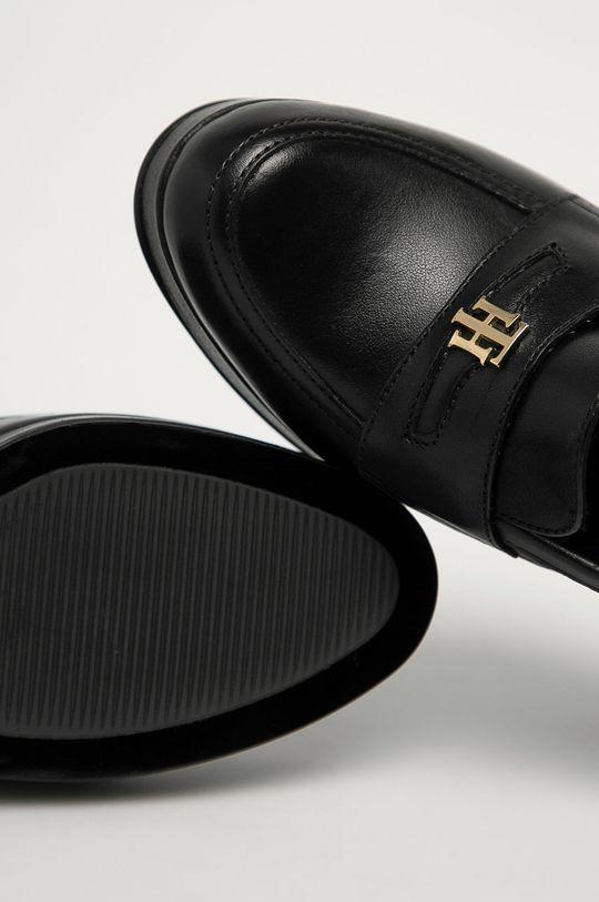 čierna Tommy Hilfiger - Kožené lodičky