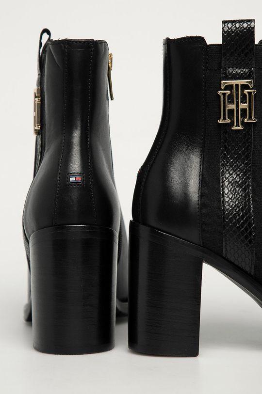 Tommy Hilfiger - Botki skórzane Cholewka: Skóra naturalna, Wnętrze: Materiał tekstylny, Skóra naturalna, Podeszwa: Materiał syntetyczny