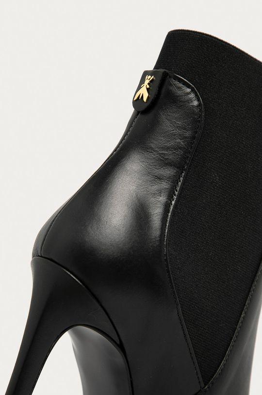 čierna Patrizia Pepe - Kožené členkové topánky