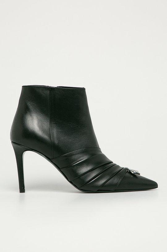 čierna Patrizia Pepe - Kožené členkové topánky Dámsky