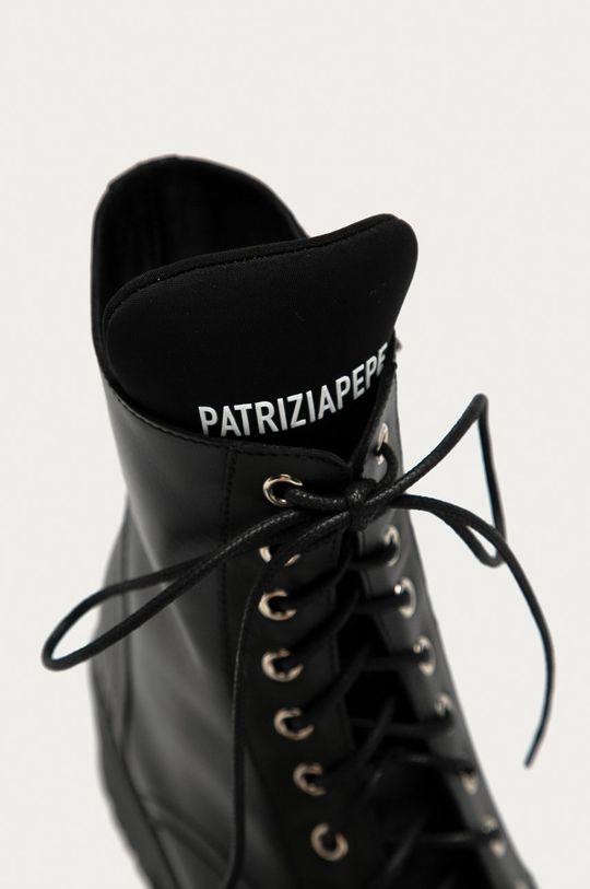 czarny Patrizia Pepe - Workery skórzane
