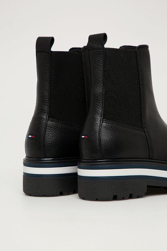 Tommy Jeans - Kožené kotníkové boty  Svršek: Přírodní kůže Vnitřek: Textilní materiál, Přírodní kůže Podrážka: Umělá hmota