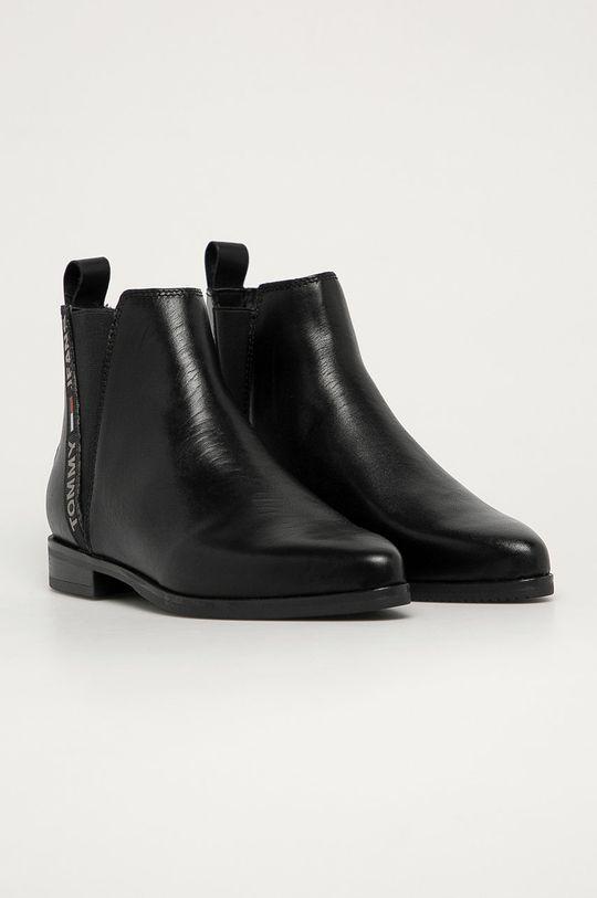 Tommy Jeans - Ghete Chelsea de piele negru