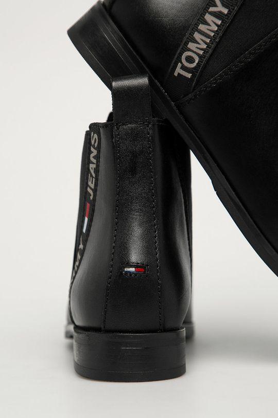 Tommy Jeans - Ghete Chelsea de piele  Gamba: Piele naturala Interiorul: Material textil, Piele naturala Talpa: Material sintetic